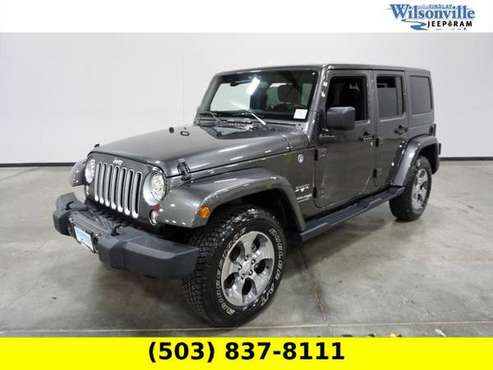 2018 Jeep Wrangler JK 4x4 4WD Unlimited Sahara SUV - cars & trucks -... for sale in Wilsonville, OR