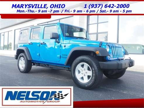 2015 Jeep Wrangler for sale in Marysville, OH