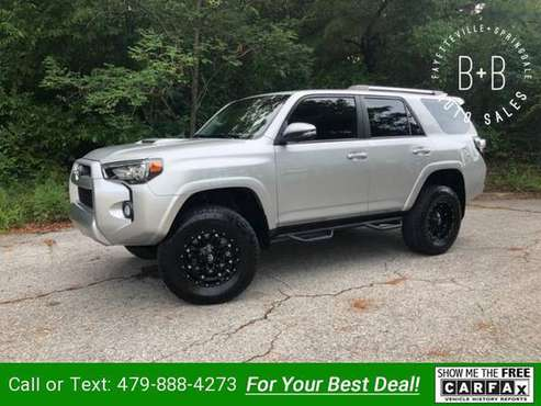 2015 Toyota 4Runner 4WD 4dr V6 Trail Premium (Natl) suv Silver for sale in Fayetteville, AR