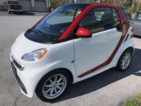2014 Smart Fortwo Electric Drive White with Red Safety Cell Like New for sale in Palmyra, PA
