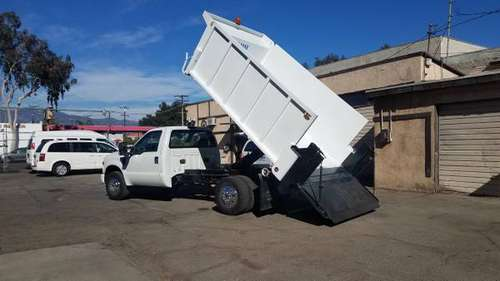 2008 FORD F350, 12FT DUMP, LIFTGATE, GAS, I FINANCE HERE - cars &... for sale in Rosemead, CA