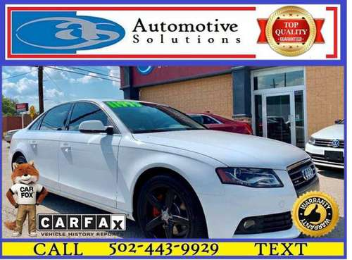 2011 Audi A4 2.0T quattro Premium Plus AWD 4dr Sedan 8A for sale in Louisville, KY