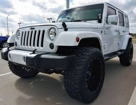 2015 JEEP WRANGLER UNLIMITED - LIFTED LEATHER BAD BOY - cars &... for sale in Ardmore, OK