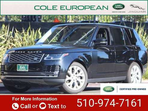 2019 Land Rover Range Rover 3.0L V6 Supercharged HSE suv Santorini for sale in Walnut Creek, CA