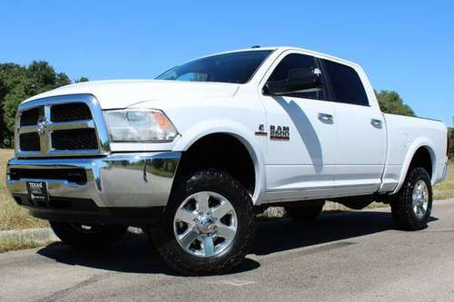 WHITE KNIGHT! 2014 RAM 2500 SLT 4X4 6.7L CUMMINS AIR RIDE TEXAS TRUCK! for sale in Temple, WI