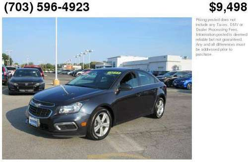 2015 Chevrolet Cruze 2LT Great Cars-EZ Credit Approval Call Now! for sale in Waldorf, MD