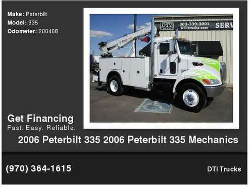 2006 Peterbilt 335 Mechanics Truck, CAT C7 Engine, 200,468 Miles, for sale in Wheat Ridge, CO