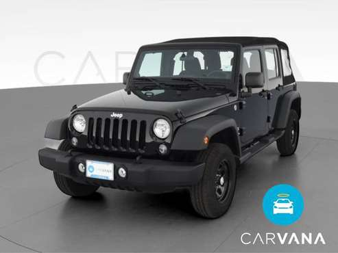 2014 Jeep Wrangler Unlimited Sport SUV 4D suv Black - FINANCE ONLINE... for sale in Trenton, NJ