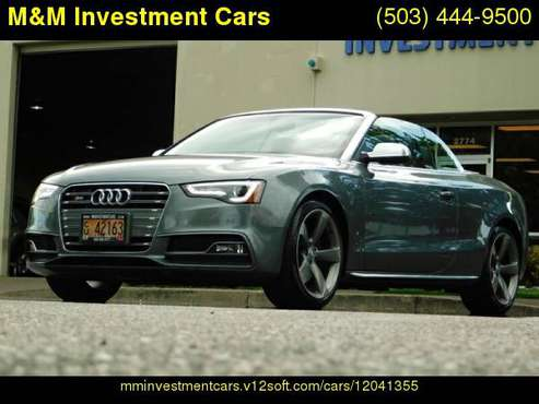 2014 Audi S5 QUATTRO CONVERTIBLE / SUPERCHARGED / 37K MILES for sale in Portland, OR