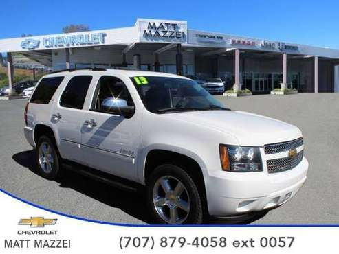 2013 Chevrolet Tahoe SUV LTZ (Summit White) for sale in Lakeport, CA