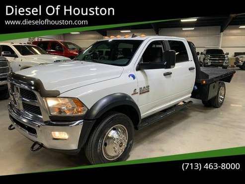 2014 Dodge Ram 5500 4X4 6.7L Cummins Diesel Chassis Flat bed for sale in Houston, TX