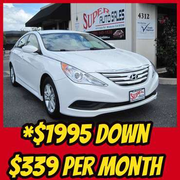 *$1995 Down & *$339 Per Month on this 2014 Hyundai Sonata GLS! for sale in Modesto, CA
