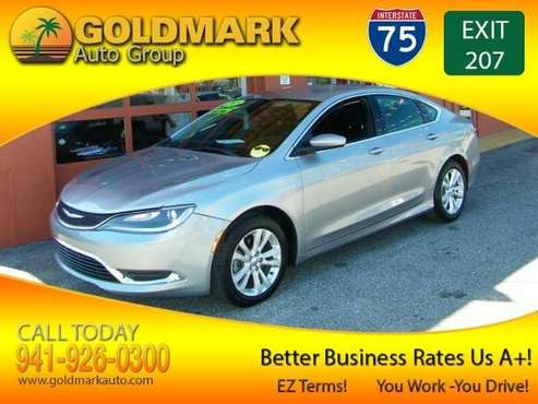 2015 Chrysler 200 Limited OVER 50 LENDERS READY TO APPROVED U TODAY for sale in Sarasota, FL