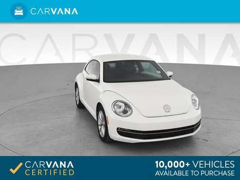 2014 VW Volkswagen Beetle TDI Hatchback 2D hatchback White - FINANCE for sale in Round Rock, TX