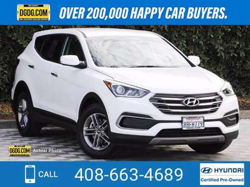 2018 Hyundai Santa Fe Sport 2.4L suv Pearl White - cars & trucks -... for sale in San Jose, CA