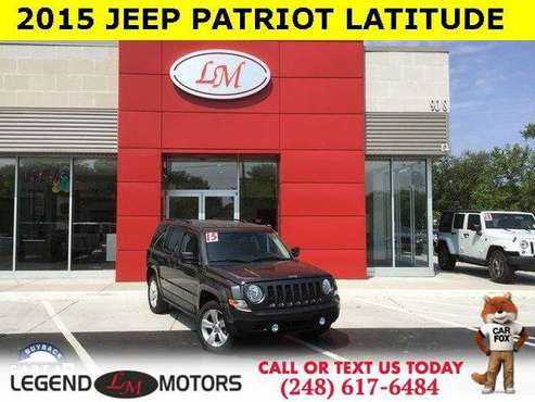 2015 Jeep Patriot Latitude for sale in Waterford, MI