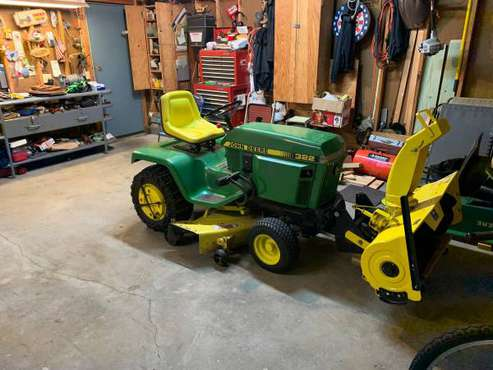 John Deere 322 w/snowblower for sale in Andover, MN