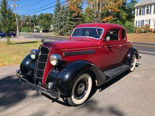 1935 Plymouth 5 window Coupe for sale in Ludlow , MA