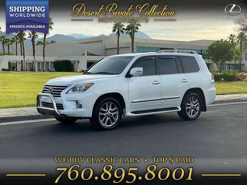2013 Lexus LX 570 Luxury 3rd row* DVD*8 pass **Fully Loaded** 1 Owner for sale in Palm Desert, NY