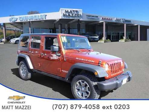 2014 Jeep Wrangler SUV Unlimited Rubicon (Copperhead Pearlcoat) for sale in Lakeport, CA