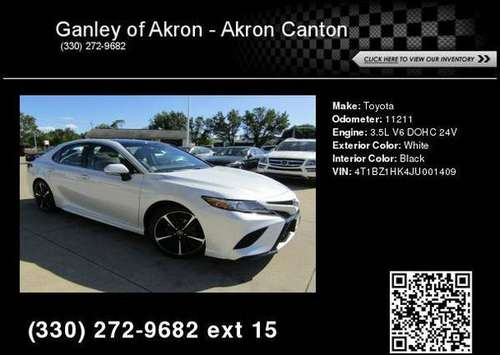 2018 Toyota Camry XSE V6 for sale in Akron, OH