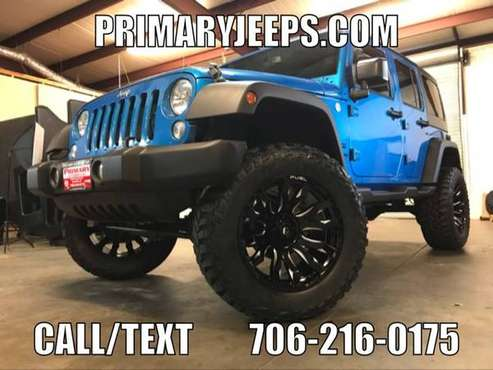 2015 Jeep Wrangler Unlimited IN HOUSE FINANCE - FREE SHIPPING - cars... for sale in DAWSONVILLE, GA