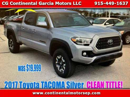 2017 Toyota Tacoma SR5 Double Cab Long Bed V6 6AT 2WD for sale in El Paso, TX