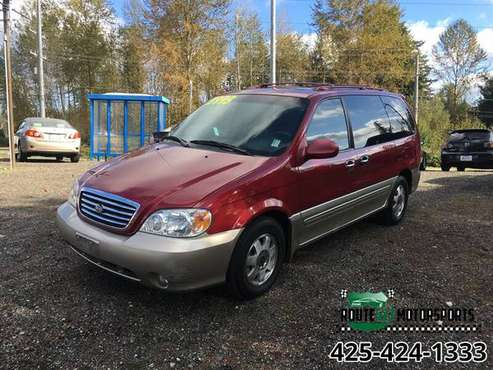 2002 KIA SEDONA LE VAN LEATHER LOADED NICE VAN - cars & trucks - by... for sale in Bothell, WA
