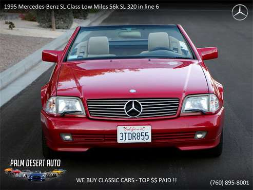 1995 Mercedes-Benz SL-Class for sale in Palm Desert , CA