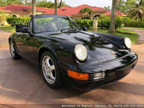 1992 Porsche 911 Carrera Convertible 60K Miles! Gray leather, Air cool for sale in Naples, FL