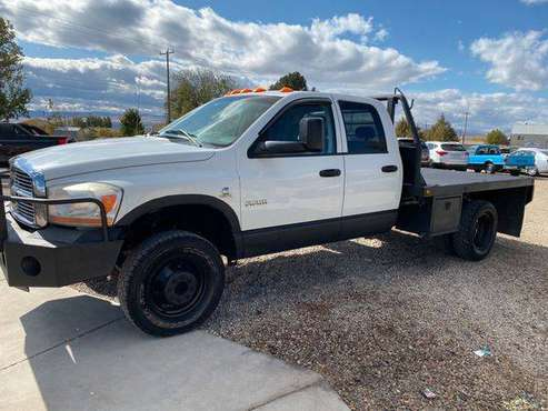 2006 DODGE RAM 3500 SIX Speed CUMMINS Flat Bed ALL FINANCING... for sale in Melba, ID