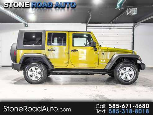 2007 Jeep Wrangler 4WD 4dr Unlimited X for sale in Ontario, NY