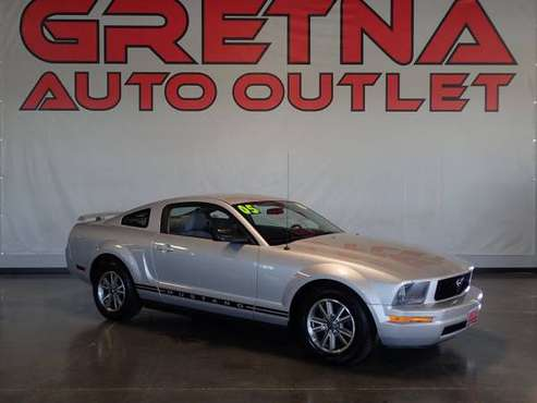 2005 Ford Mustang Deluxe 2dr Fastback, Silver for sale in Gretna, NE