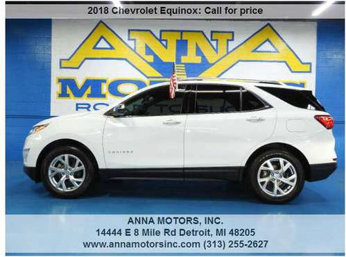 2018 CHEVROLET EQUINOX PREMIER, PAYMENT STARTING@$249*MONTHLY-STOP BY for sale in Detroit, MI