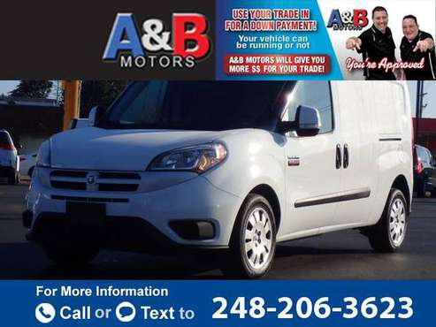 2015 RAM ProMaster City Cargo Van SLT van White for sale in Waterford Township, MI