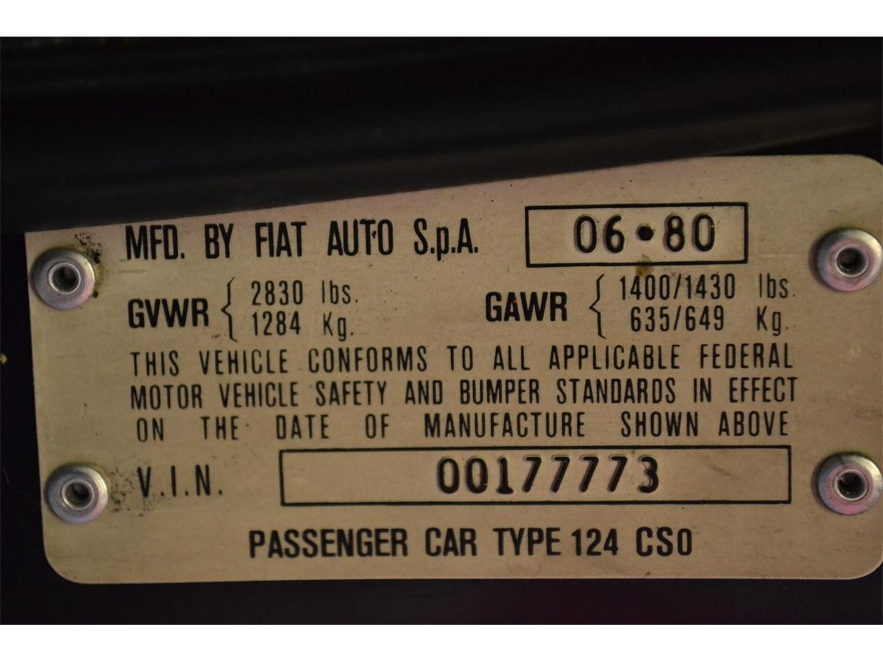 1981 Fiat Spider for sale in Barrington, IL – photo 34