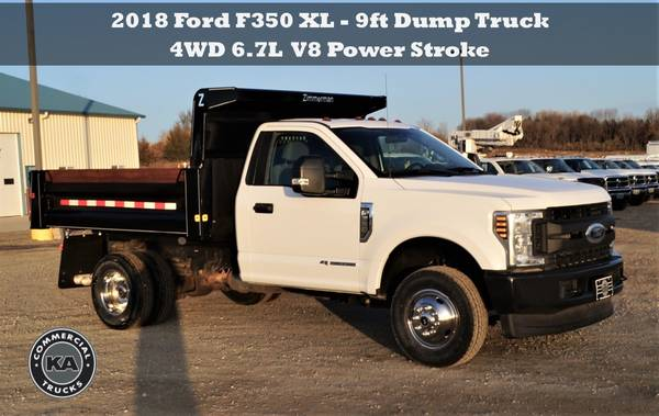 2018 Ford F550 XL - 9ft Flatbed - 4WD 6.7L V8 Utility Dump Box Truck... for sale in Dassel, MT – photo 8