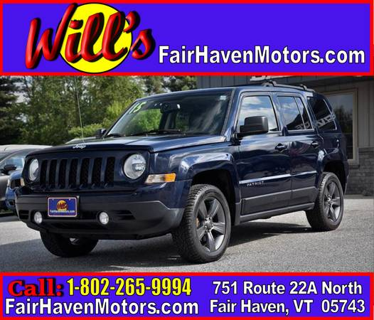2015 JEEP PATROIT HIGH ALTITUDE EDITION! 4X4! 60K CLEAN MILES FD105777 for sale in FAIR HAVEN, VT