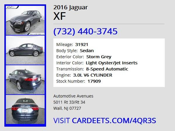 2016 Jaguar XF, Storm Grey for sale in Wall, NJ – photo 22