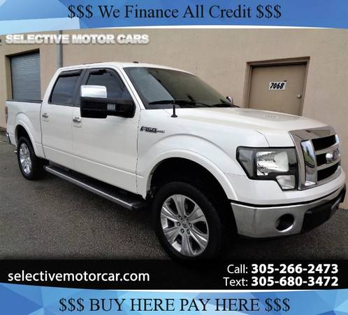 "2012 Ford F-150 2WD SuperCrew 145"" Lariat - cars & trucks - by... for sale in Miami, FL"