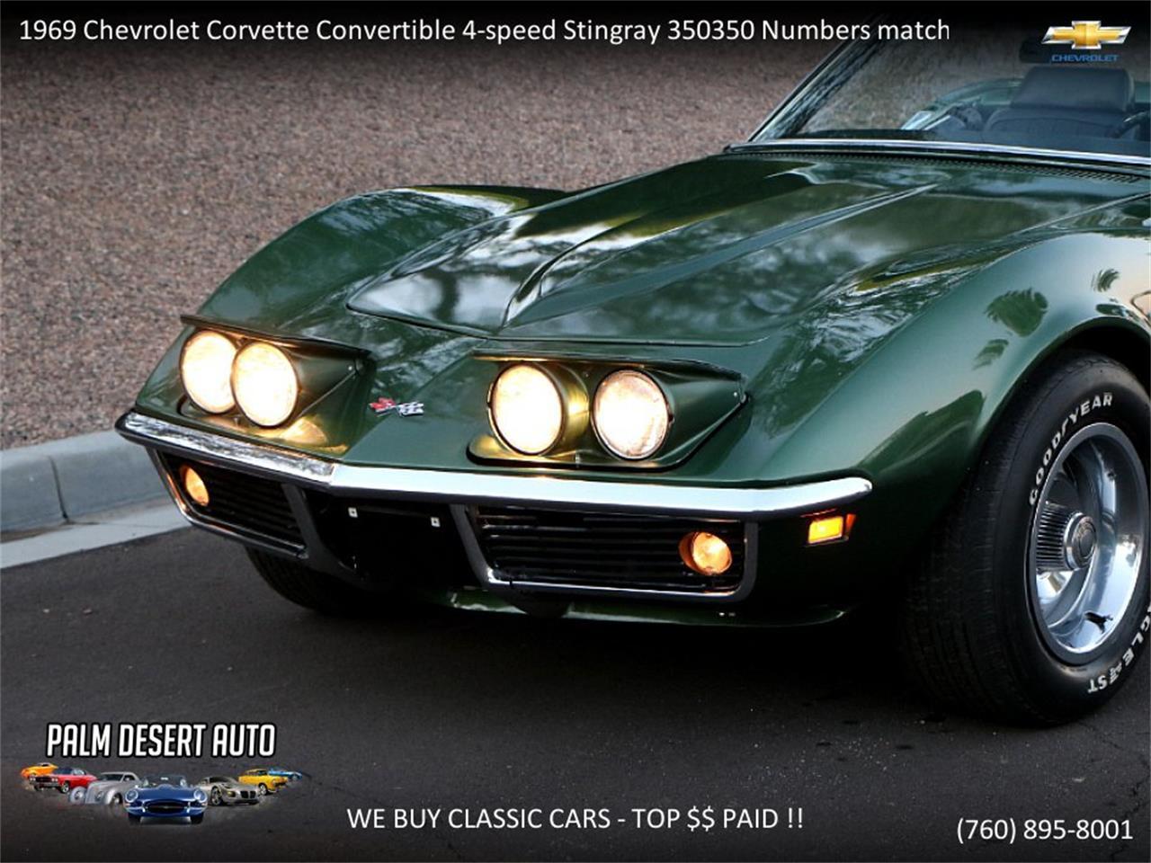 1969 Chevrolet Corvette Stingray For Sale In Palm Desert