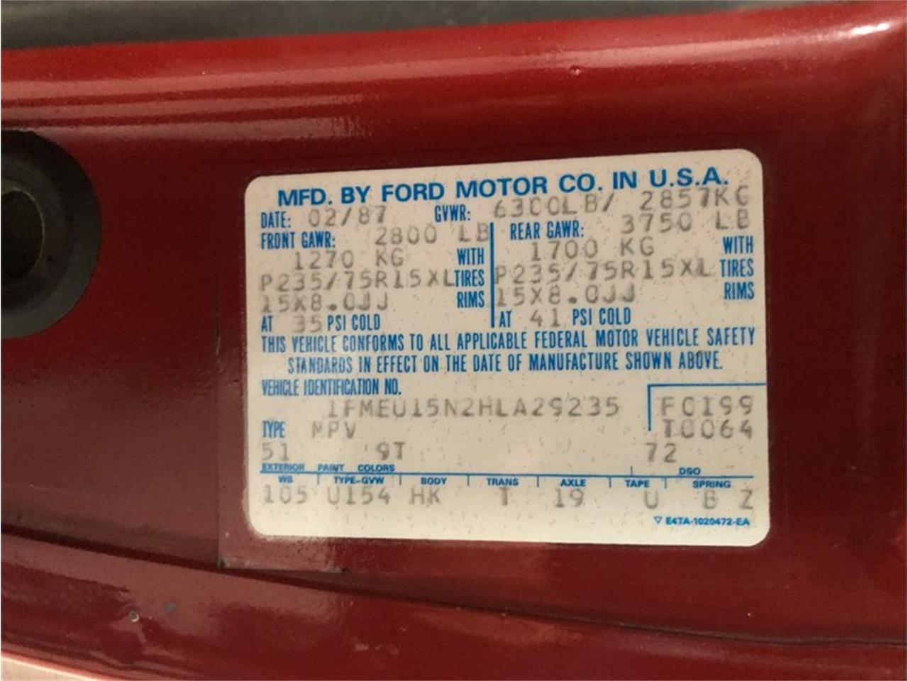 1987 Ford Bronco for sale in Holland , MI – photo 17