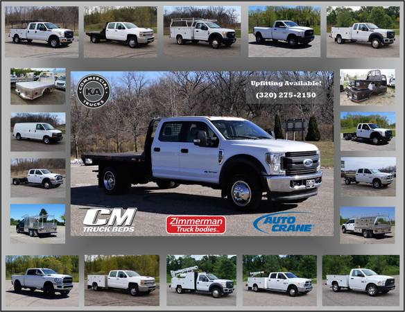 2018 Ford F550 XL - 9ft Flatbed - 4WD 6.7L V8 Utility Dump Box Truck... for sale in Dassel, MT